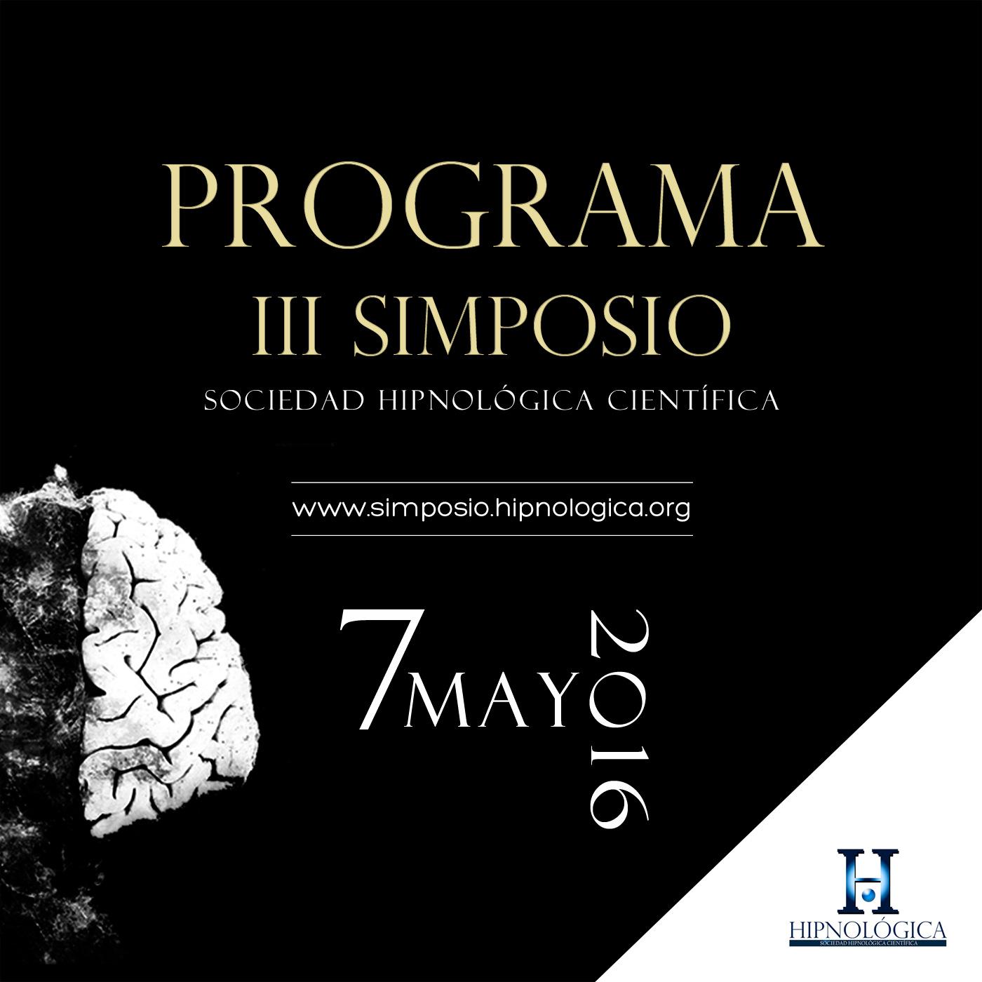 Programa III Simposio de la Sociedad Hipnológica Científica